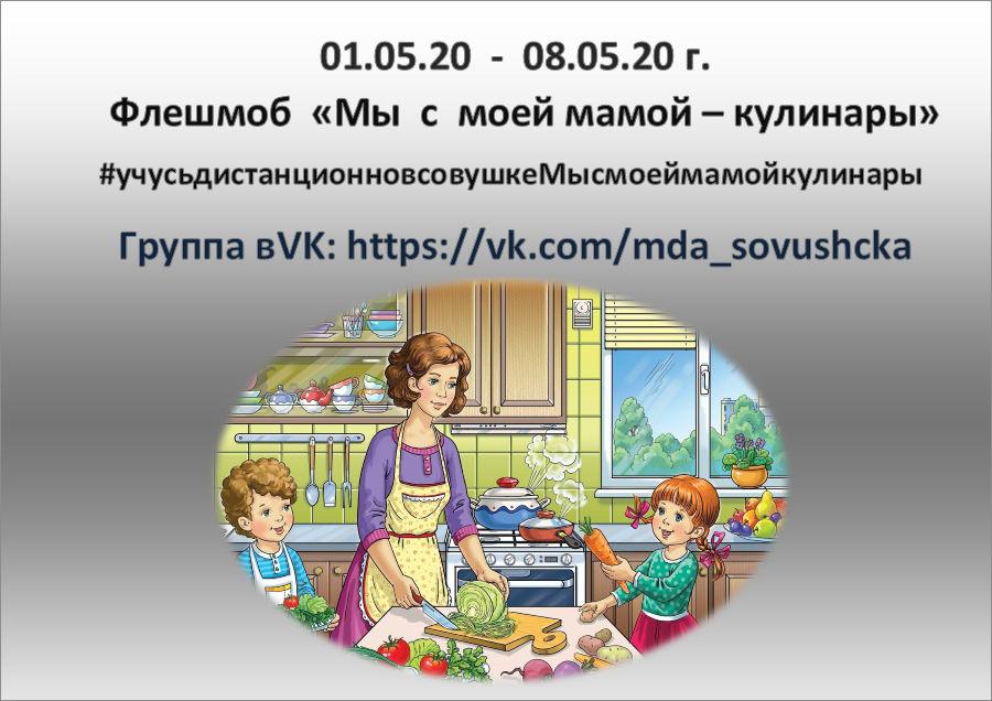 Флэшмоб «Мы с мамой - кулинары»